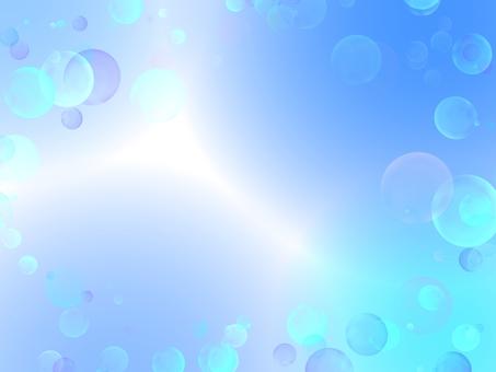 파란 비누 방울 벽지