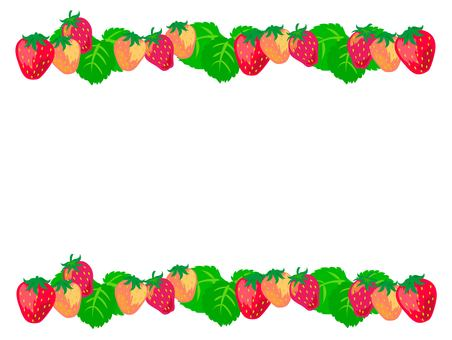 Strawberry fruit and leaf frame 2