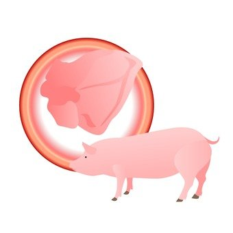 Pig's internal organs
