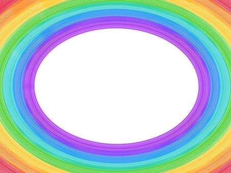 Rainbow line frame