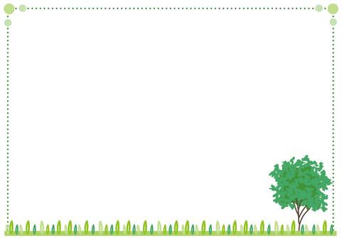 Fresh green tree frame