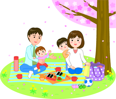 Picnic cherry blossom viewing