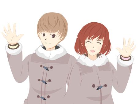 Duffle coat couple