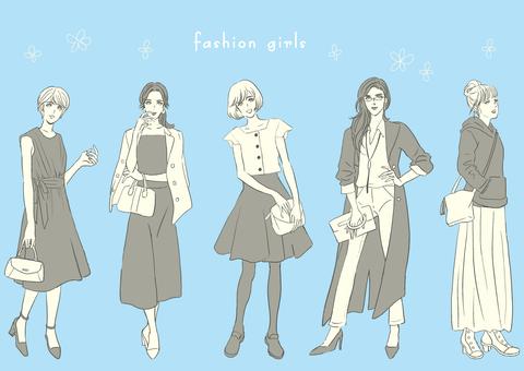 Women's fashion Full body Monochrome ver.