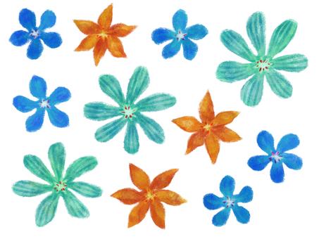 Small flower _ blue series