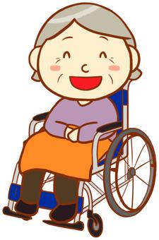 Elderly women (wheel chair)