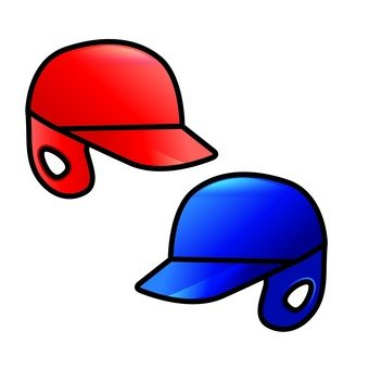 Red and blue helmet