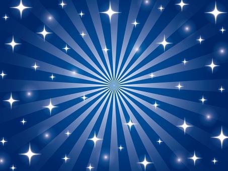 紺色のキラキラ放射状背景