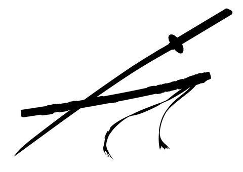 Sword and sheath silhouette