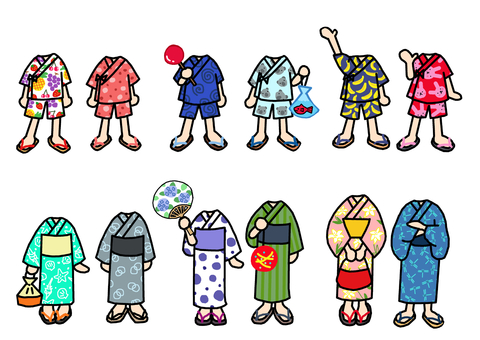 Jinpei's child Yukata's child dress-up 2