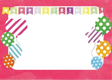 Photo Frame Birthday Pink