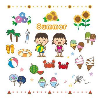 Summer illustration summary