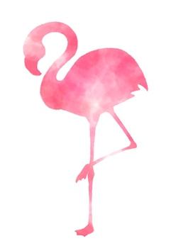 Flamingo watercolor breeze