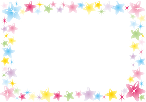 Glittering star frame (pastel)