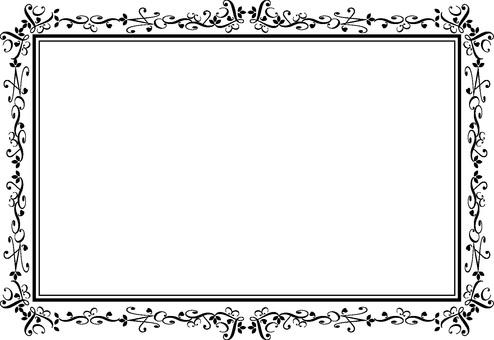 優雅的框架單色