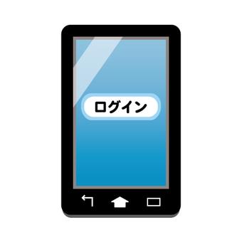 Smartphone screen (login screen)