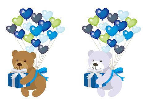 Valentine Material 12 (Bear 03i Balloon)