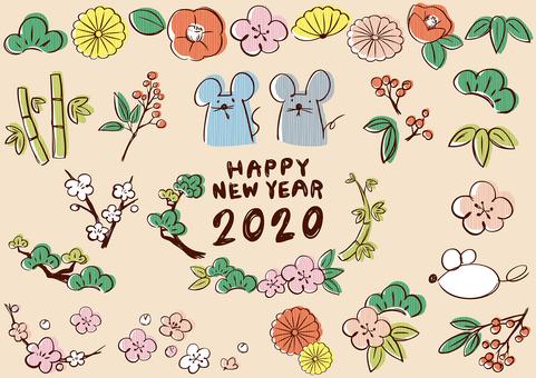 Sketch_New Year's card stripe_02