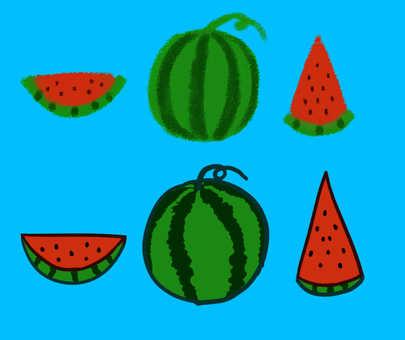 Watermelon 6 pieces set