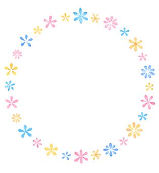Watercolor Flower frame C3