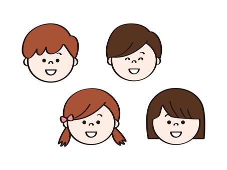 Children's faces _smile_icon
