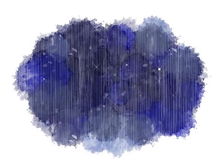 Watercolor moisture rain at night