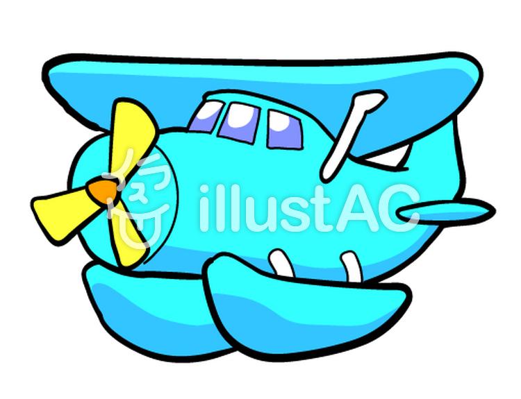 水上飛行機のイラスト