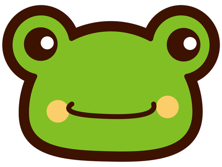 Cute frog's face