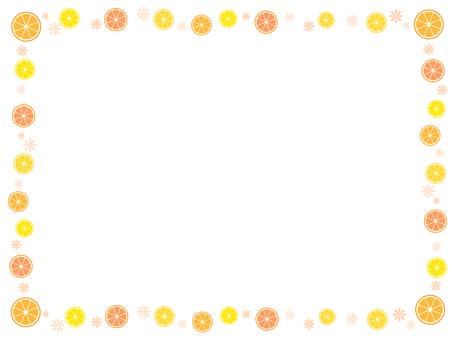 Orange decorative frame 3