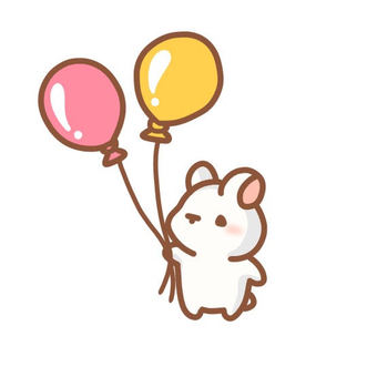 Rabbit with balloons
