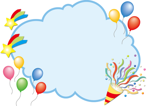 Cloud and balloon frame