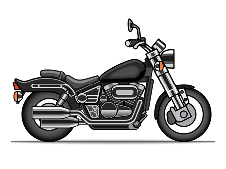 Motorcycle illustration (American)