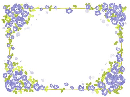 Flower frame 11 (nemophila)