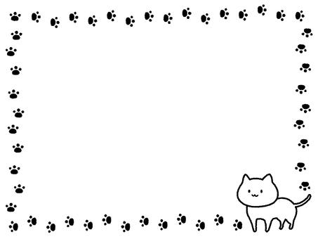 Cat decorative frame
