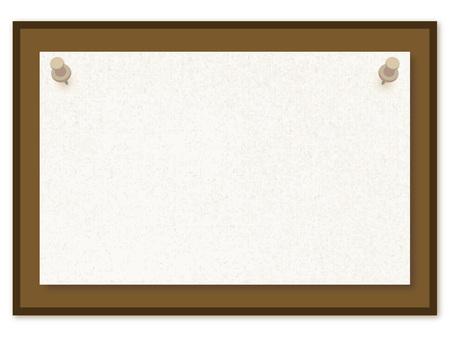 Paper thumbtack board Message board bulletin board illustration frame