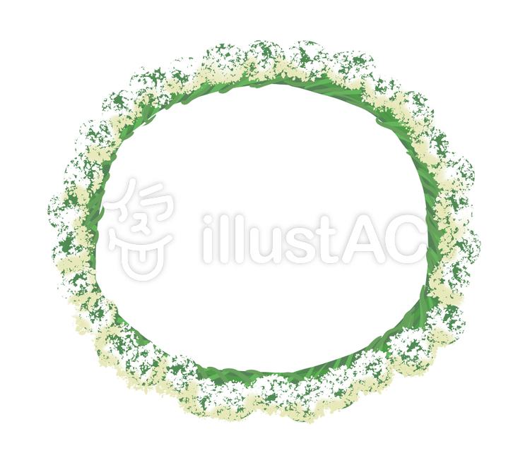 シロツメクサの花冠イラスト No 1106017無料イラストならイラストac