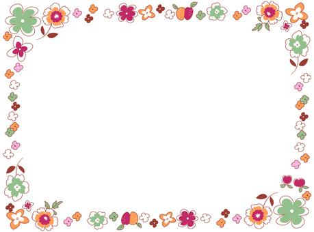 Hand-drawn flower frame