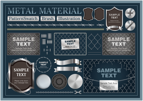 Metal pattern & brush SET