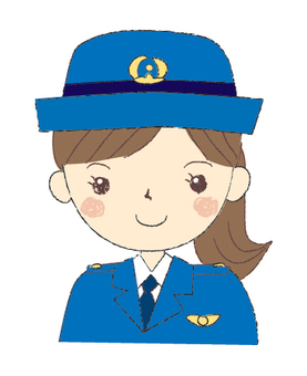 Women police girl
