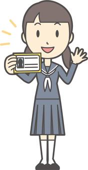 Junior high school sailor woman-267-whole body