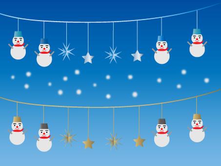 Snowman's ornaments
