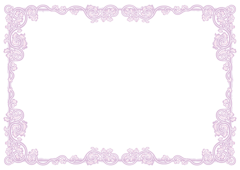 Arabesque frame (Vortex currant _ light purple)
