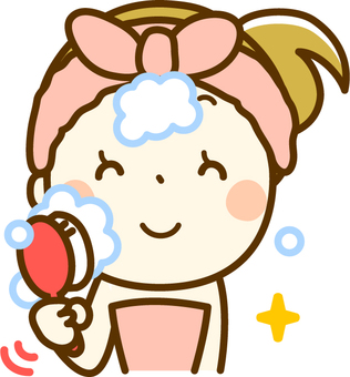 Female, face wash, face wash