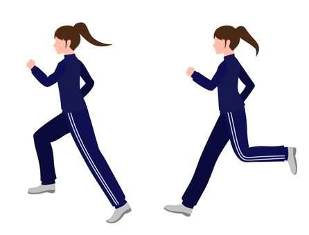 Woman running in jersey