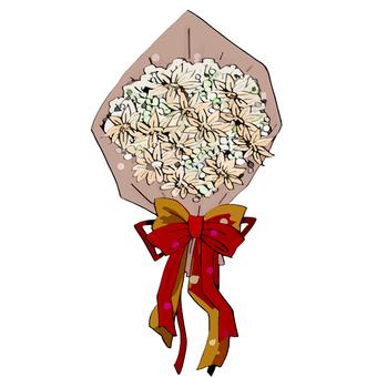 Bouquet (Kraft paper, watercolor style)