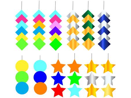 Tanabata decoration of rain