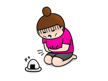 I want to eat a diet rice ball