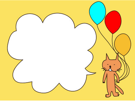 Cats and balloons