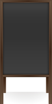 Wooden menu board · dark · portrait