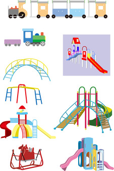 Nursery playground equipment set 4